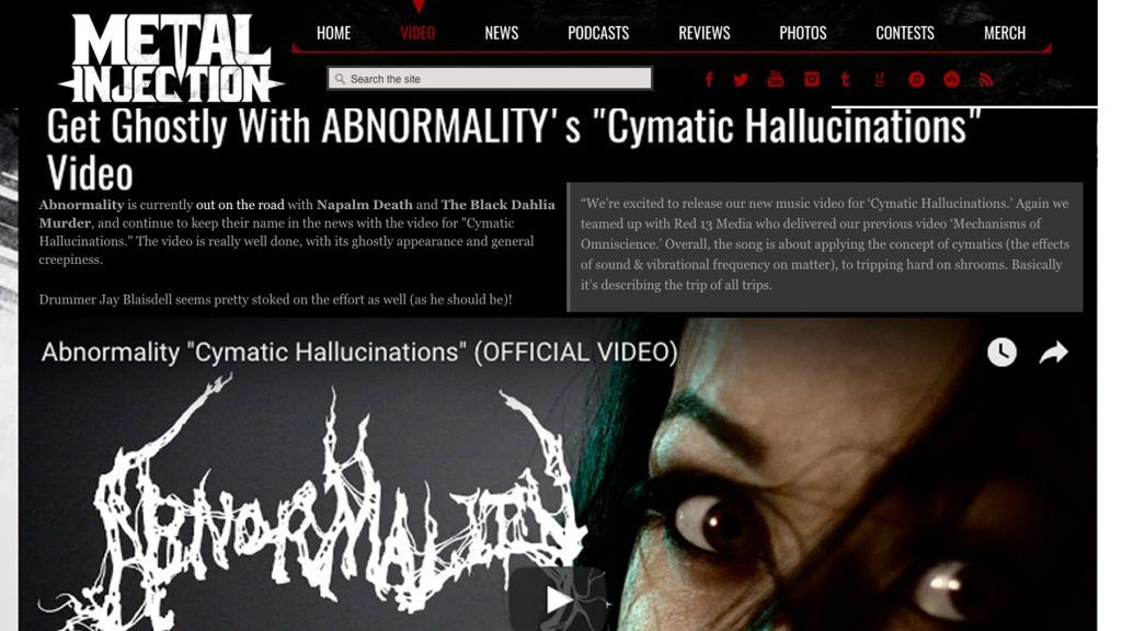 ABNORMALITY CYMATIC METAL INJECTION