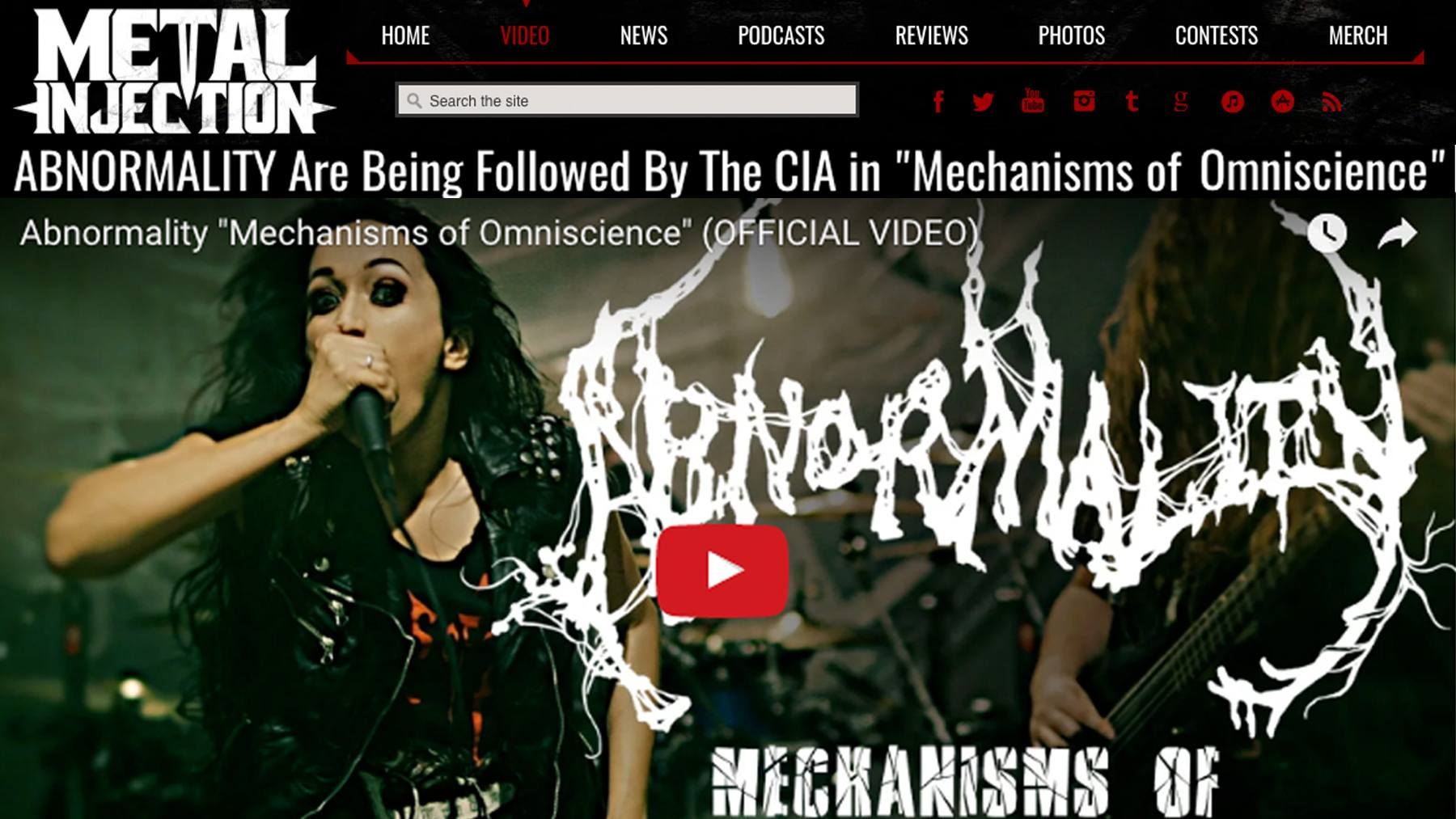ABNORMALITY MECHANISM METAL INJECTION